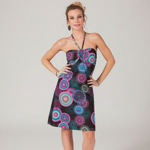 Strapless Bright Mandala Print Dress  SZ S/M